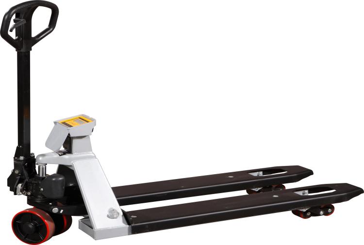 Rankiniai hidrauliniai vežimėliai paletėms su svarstyklėmis spausdintuvu